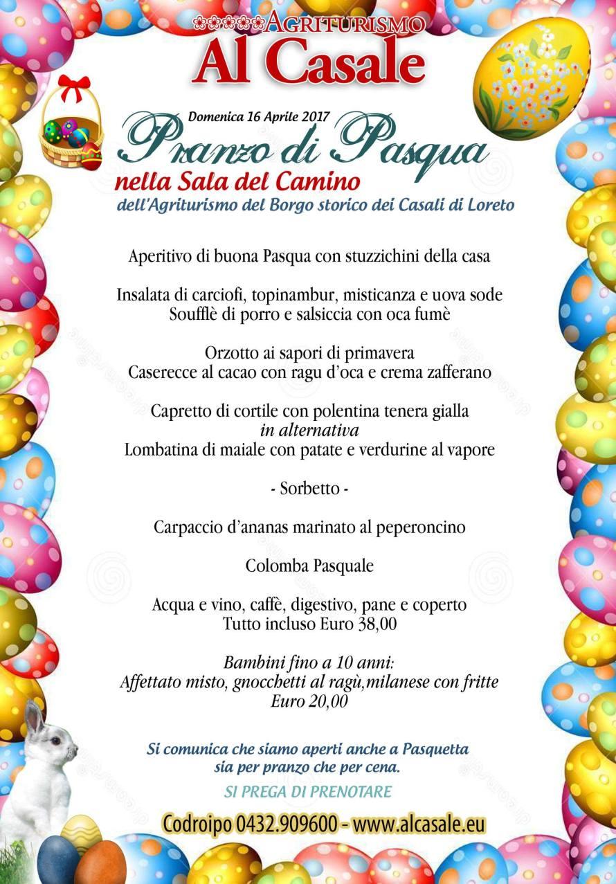 menu pasqua 2017 codroipo agriturismo 1 890x1277 Pranzo di Pasqua 2017 allagriturismo Al Casale Codroipo