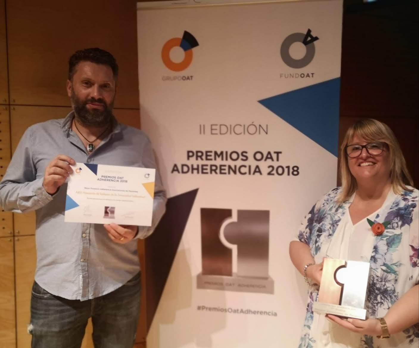 ALCE, Asociación de Epilepsia de la Comunidad Valenciana galadornada en los  II Premios OAT Adherencia