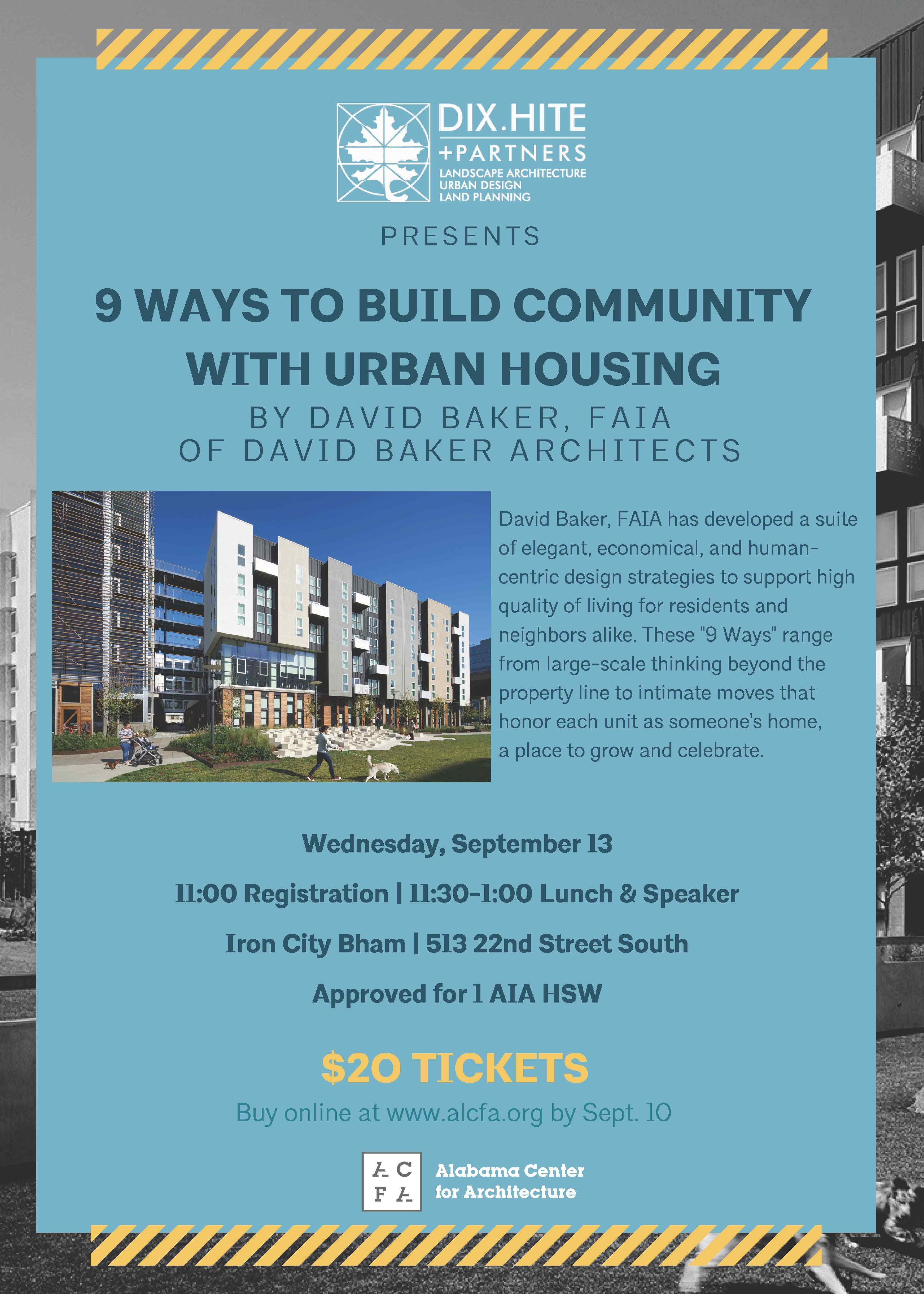 Lecture Series 9 Ways to Build Community
