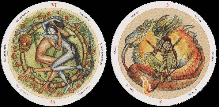 with the Circle of Life Tarot we have some real lively creative artwork.