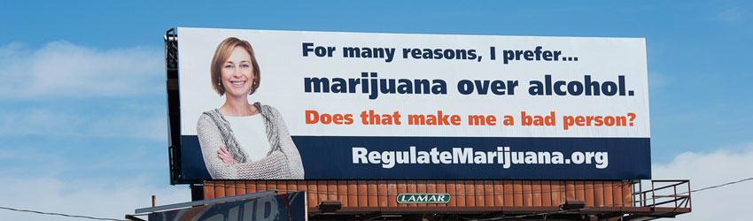 Publicité américaine pour le cannabis