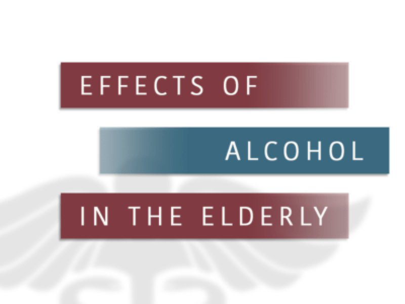 Effects Of Alcohol In The Elderly