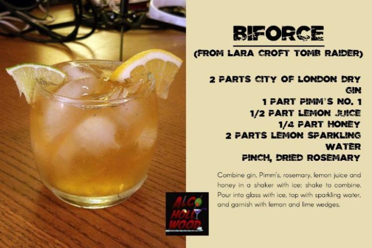lara croft tomb raider cocktail
