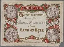 temperance group membership card
