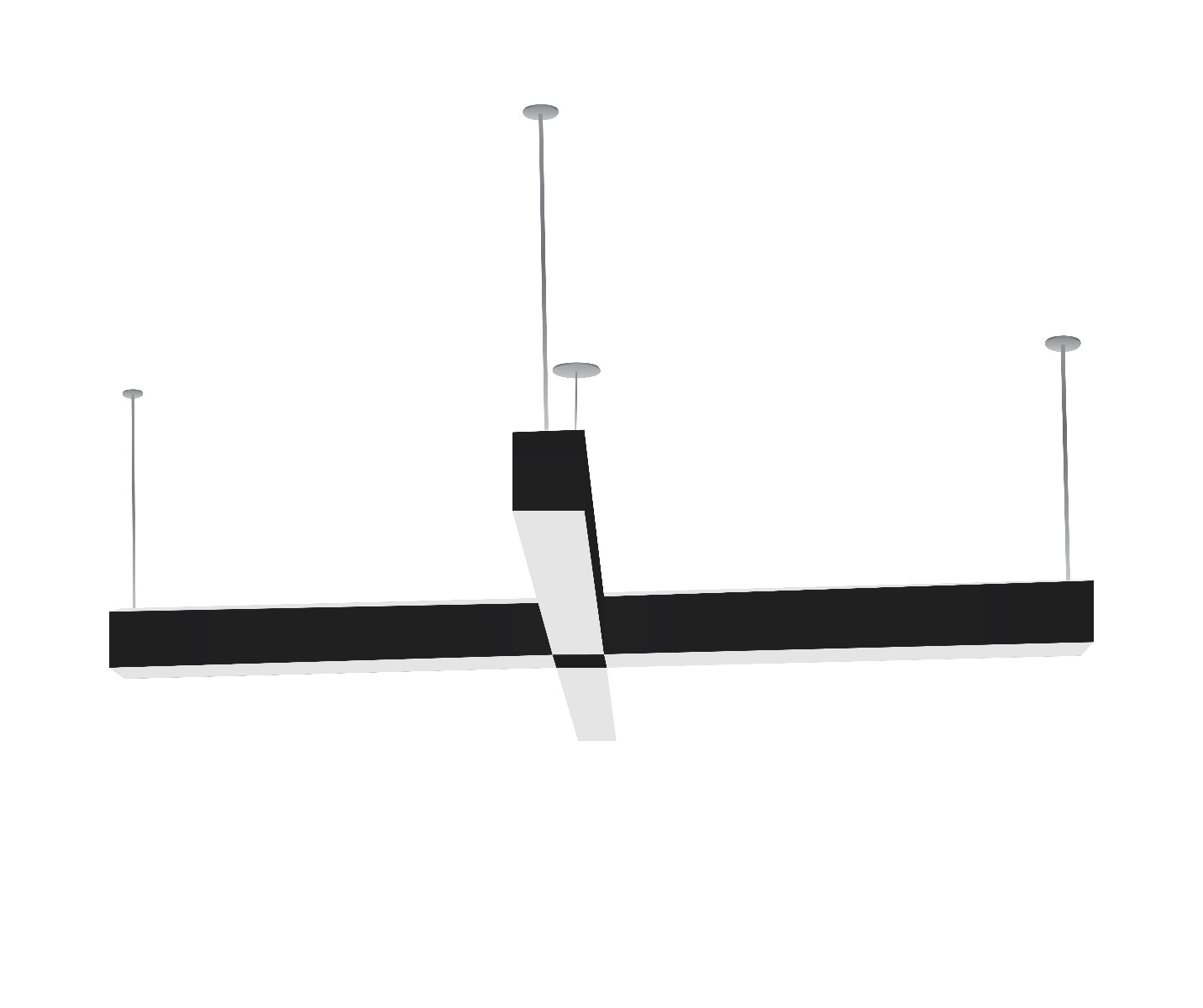 Alcon Lighting Rektor Architectural Linear Suspended Led Office Ceiling Light Fixture