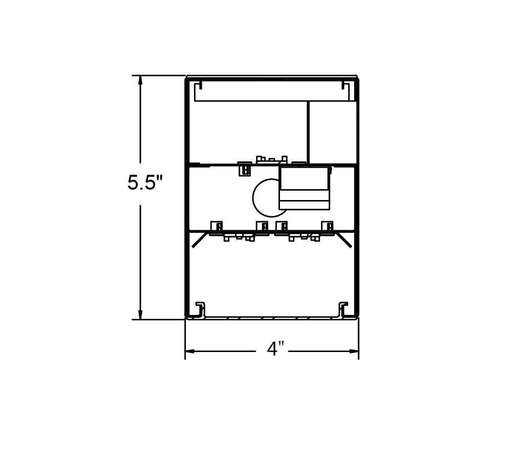 Alcon Lighting 4 Beam 253 Series 4 Foot Linear