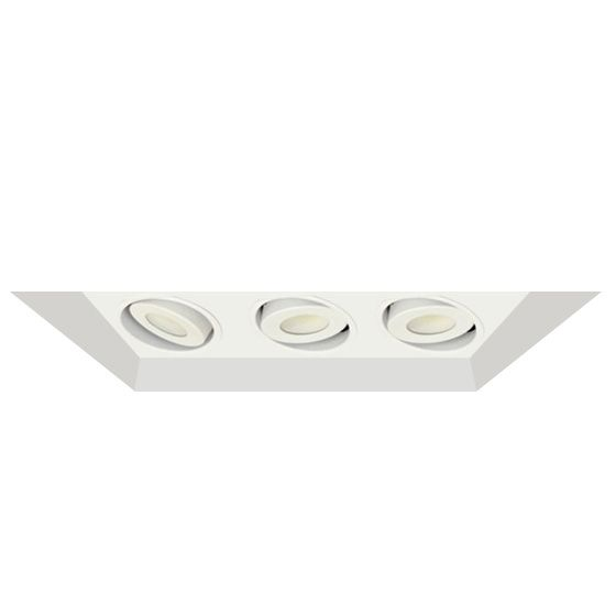 alcon lighting 14300 3 oculare architectural led flanged adjustable 3 heads multiple recessed lighting system direct down fixture