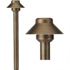 alcon lighting 9070 bucket solid brass low voltage led architectural landscape path light fixture
