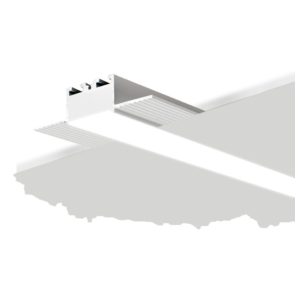 alcon 12100 10 lr drywall height recessed linear trimless led light