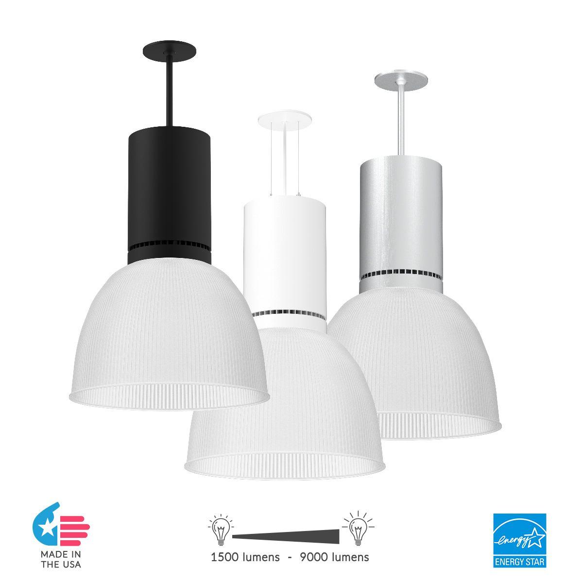 alcon lighting 80121 veria led round high bay commercial lighting pendant