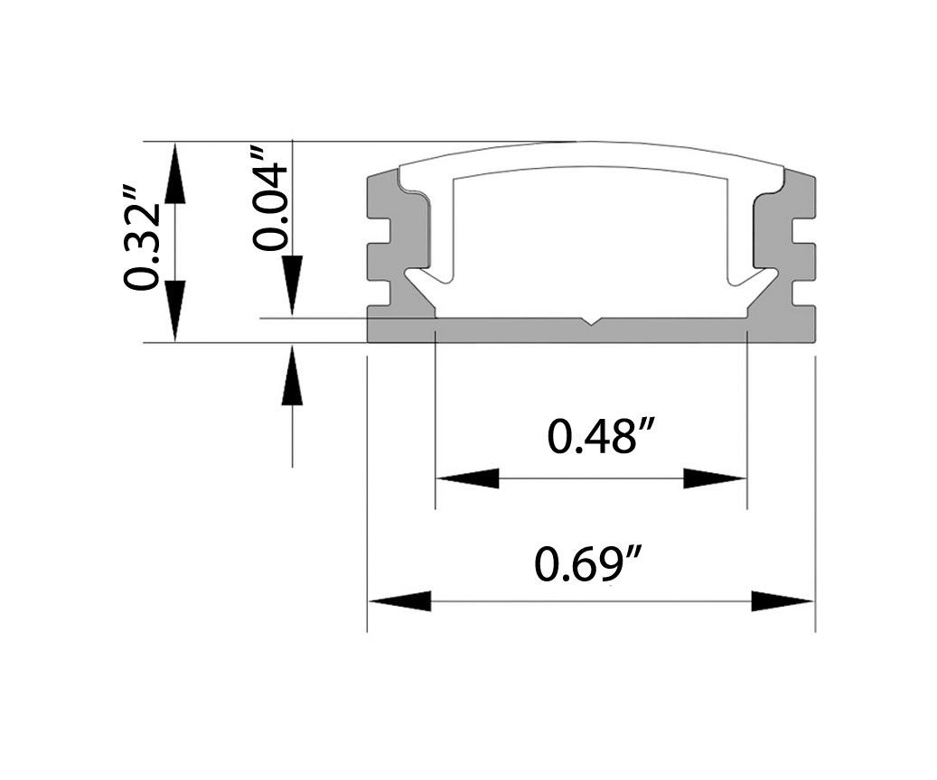 Core Lighting Alu Sd78 Designer Deep Aluminum Channel