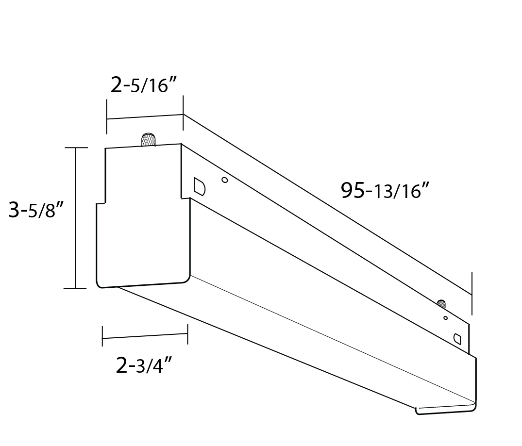 Alcon Lighting 8 Block Architectural Led 8 Foot