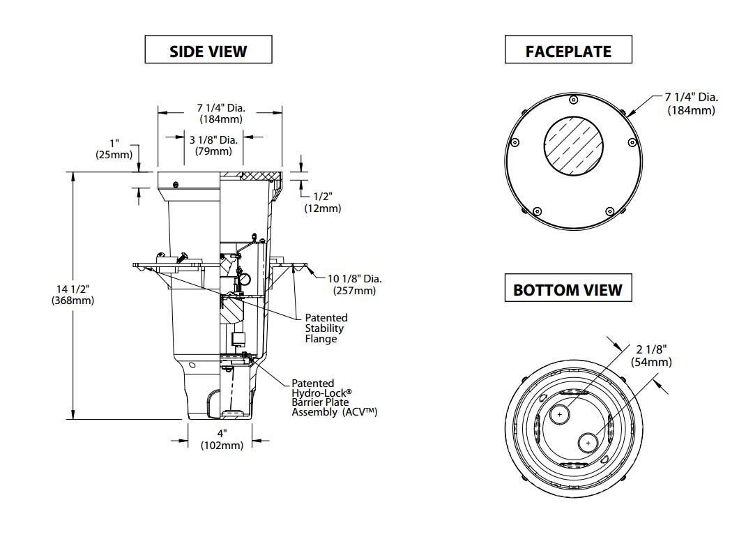 Bk Lighting Hp2 Os Led Tr Offset Integral Transformer