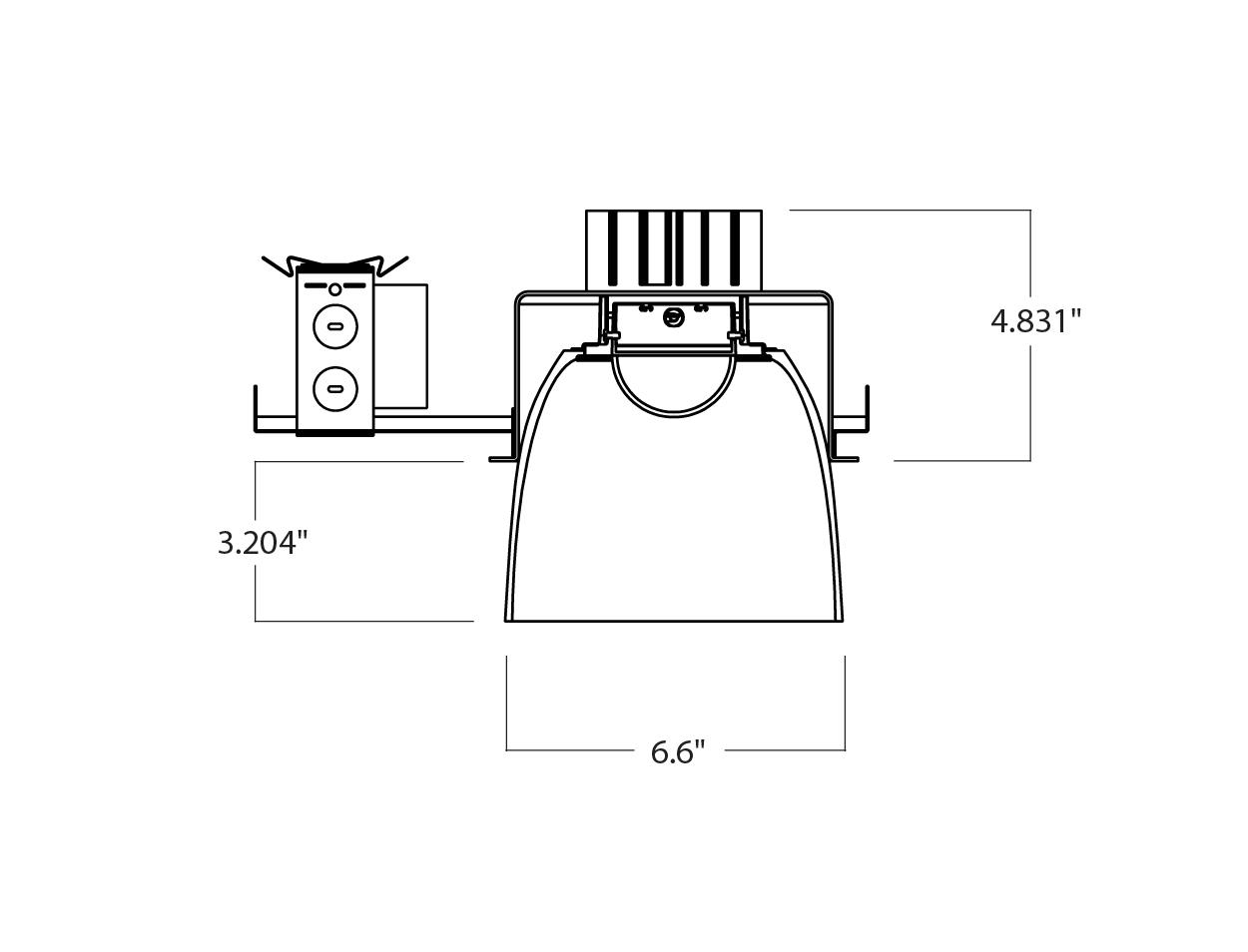 Delray Lighting 6 Diameter Led Lux White Cylinder
