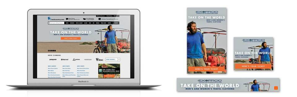 Client: Backcountry.com Web graphics and promotion for Ex Officio Softgoods
