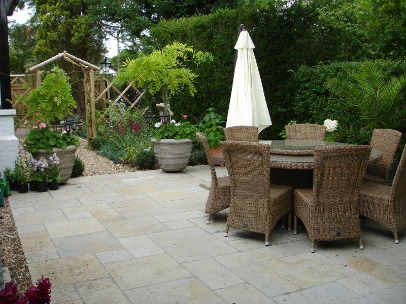 Thinking about a new patio  Some tips from a patio designer    Riseley courtyard 3a