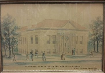 Architect's drawing of the proposed library