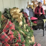 Karen Logan and her wreaths