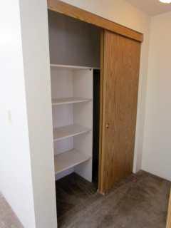 Hallway closet with lots of Storage!