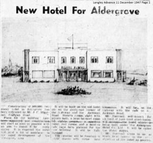 New Hotel For Aldergrove