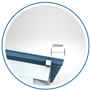 jarak maximum tritis overhang pemasangan alderon