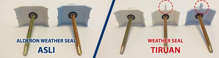 aksesoris alderon weather seal asli vs tiruan
