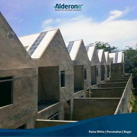 model atap rumah Alderon RS Roma White pada Atap Rumah Perumahan Bogor