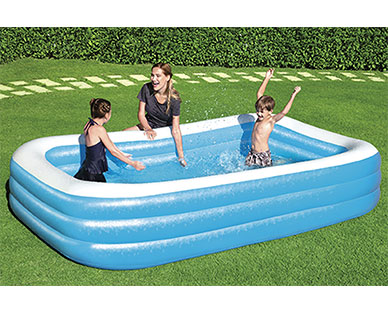 Bestway Deluxe Blue Rectangular Family Pool View 2