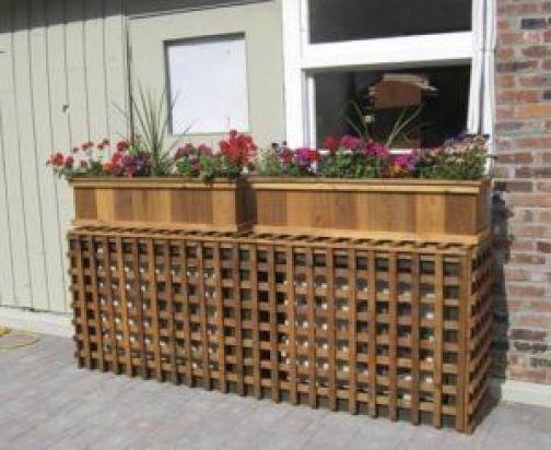 Repisas de madera para colocar flores