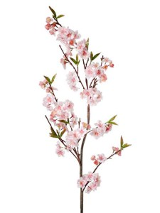 Silk Flowers  Cherry Blossom Branch 54 in  Pink Aldik Home s Realistic Silk Flowers   Cherry Blossom Branch