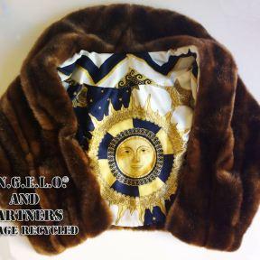 pellicce eco con interno in foulard originale! Prodotti unici A.N.G.E.L.O. and partners