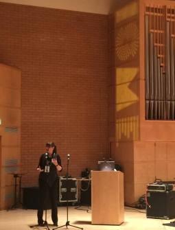 Helen Julia Minors presenting at ISME 2016, RCS, Glasgow.