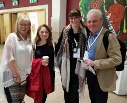 The NAMHE Panel, Prof. Pamela Burnard (Cambridge University), Zaina Shihabi (Liverpool Hope University), Dr. Helen Julia Minors (Kingston University) and Prof. Charles Wiffen (Bath Spa University)