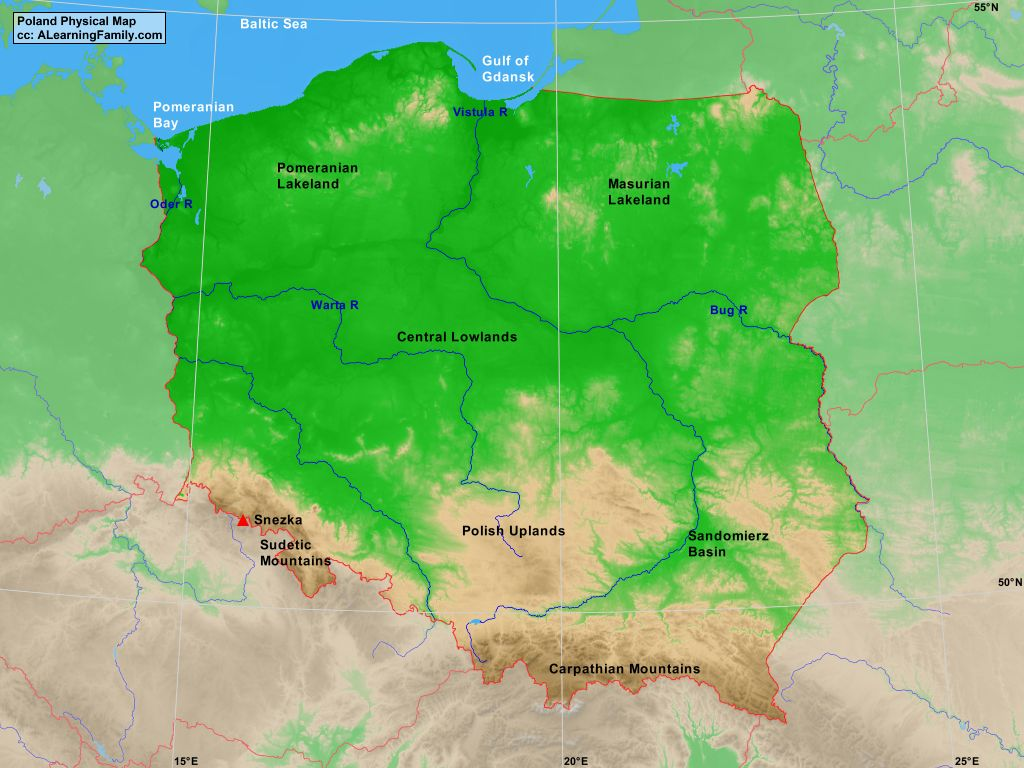 Advertisement poland in world outline map