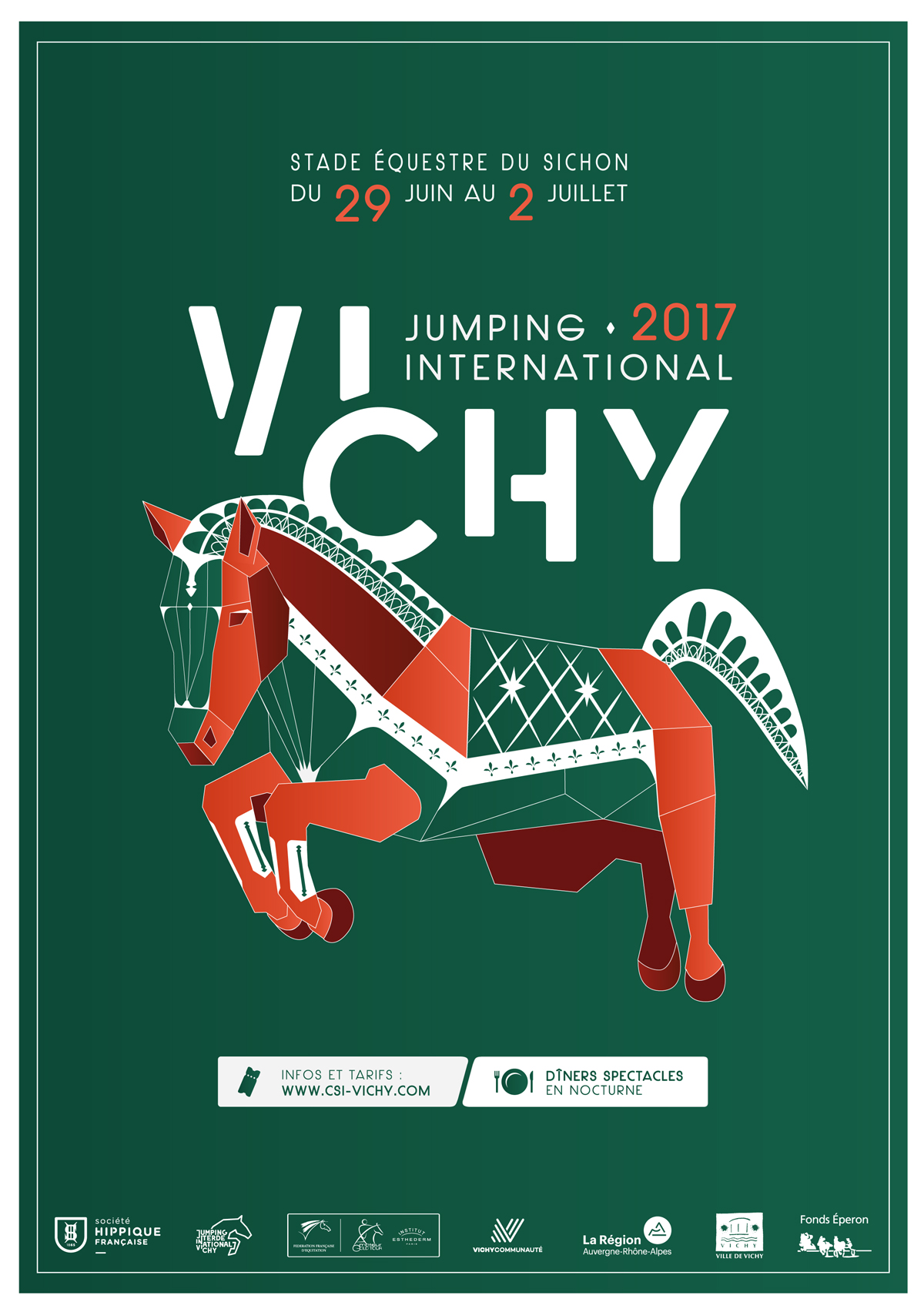 Affiche du Jumping International de Vichy 2017