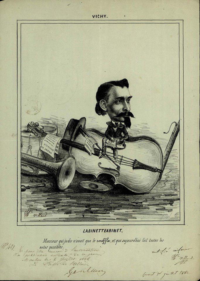 Lithographie de Théophile Villard. La binette à Binet, 1862 (coll. Archives départementales de l'Allier)