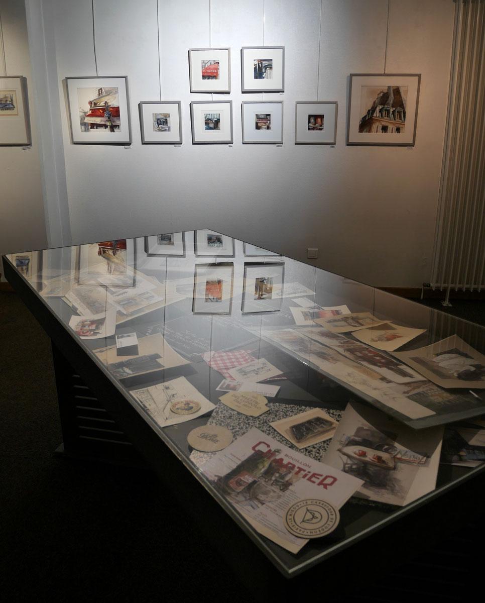 """Exposition """"De villes en villes..."""" d'Isabelle Corcket à la Médiathèque Valery-Larbaud de Vichy"""