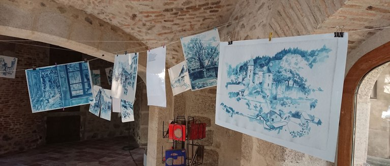 Bleu d'Auvergne - Marielle Durand en résidence à Châteldon