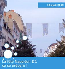 Préparation de la fête Napoléon III à Vichy en 2019
