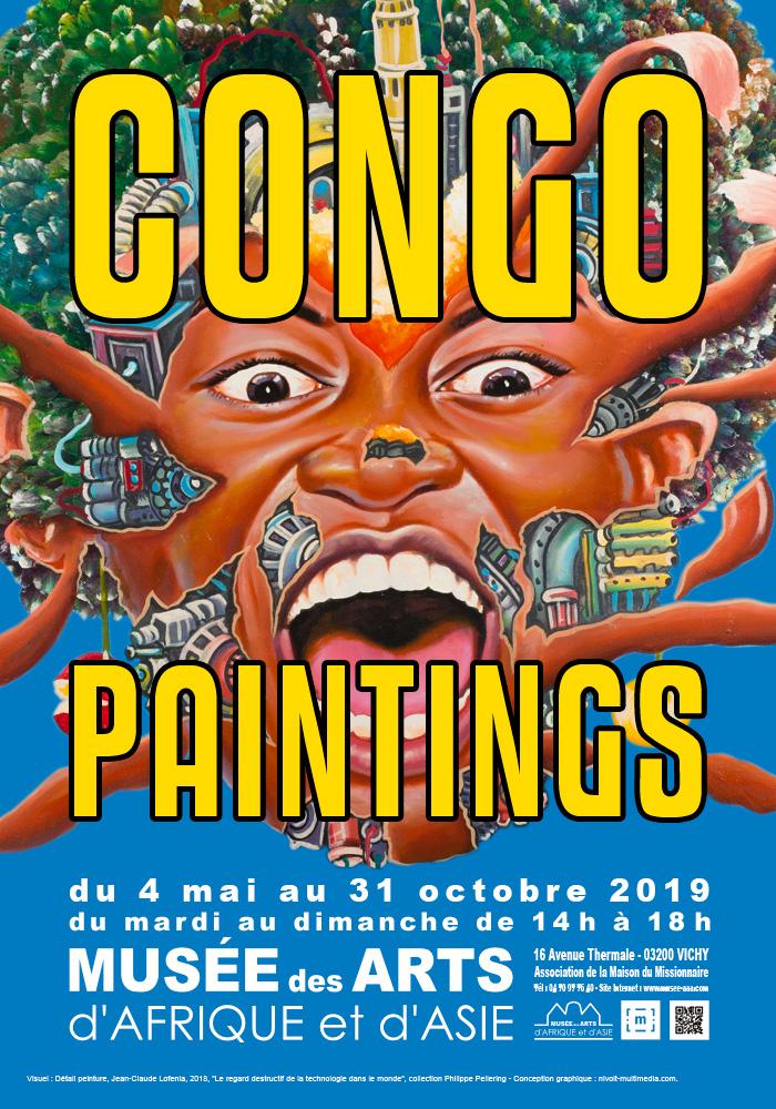 """Exposition """"Congo Painting"""" au Musée des Arts d'Afrique et d'Asie de Vichy - 2019"""