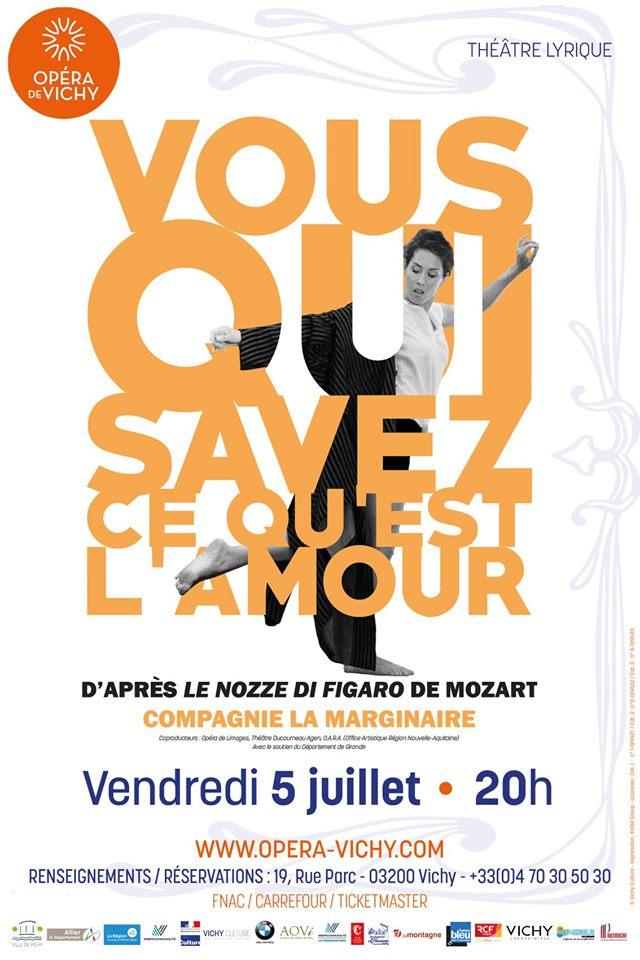 """Affiche du spectacle """"Vous qui savez ce qu'est l'amour"""" à l'Opéra de Vichy"""