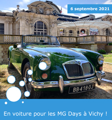 En voiture pour les MG Days à Vichy !