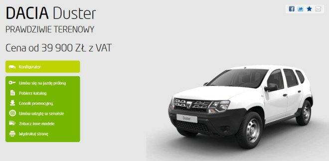 Duster SUV niby terenowy