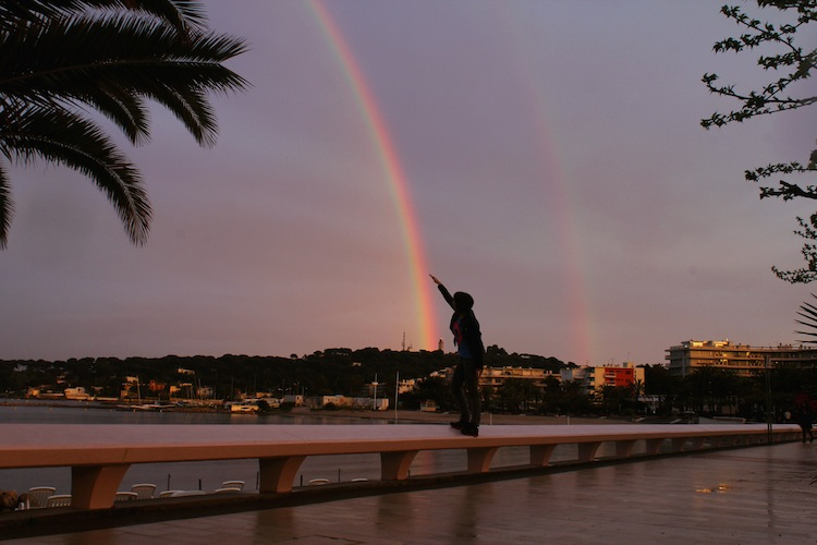 Double Rainbow on the Mediterranean Sea in Antibes, France (April)