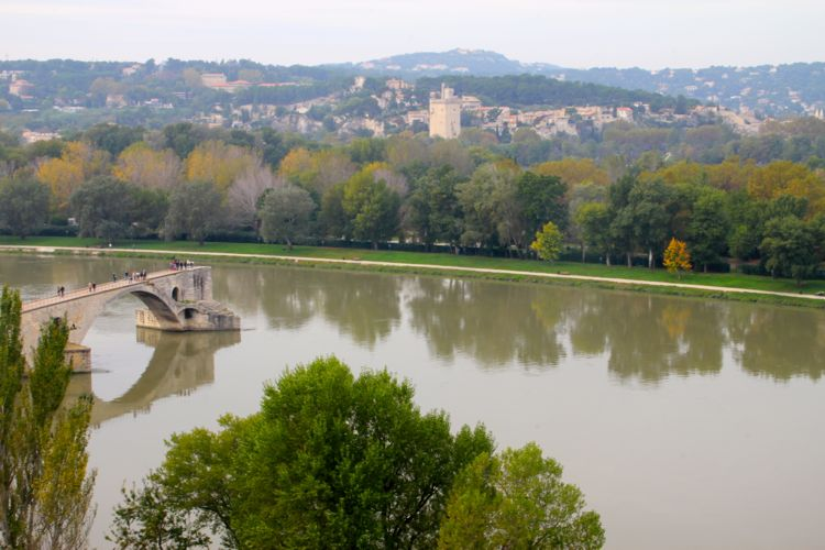 The View from the Papal Castle in Avignon, France (November)