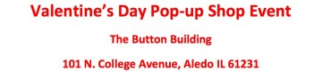 Valentine's Day Pop-up Shop Event