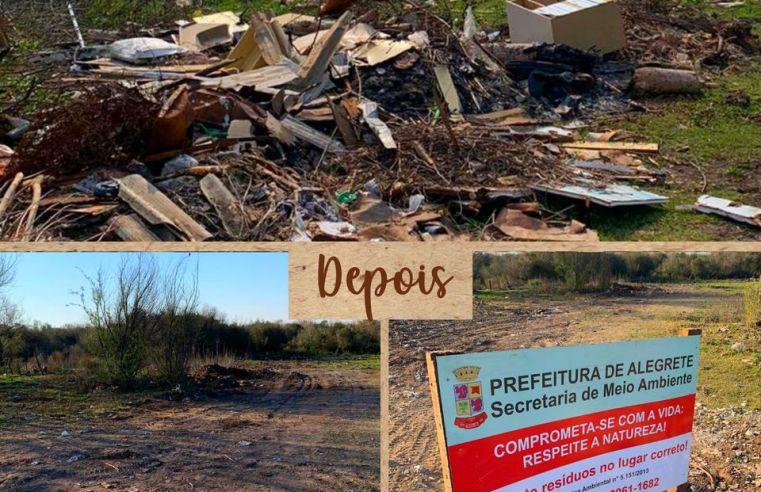 Campanha Alegrete + Limpo mostra o antes e o depois das limpezas