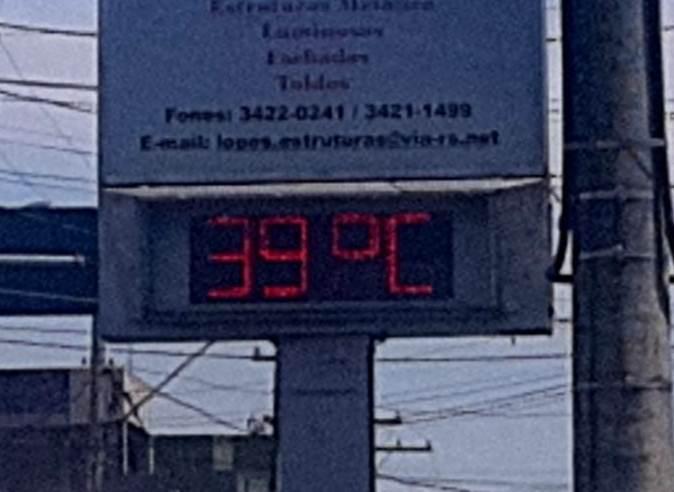 Calorão de 39º C em Alegrete