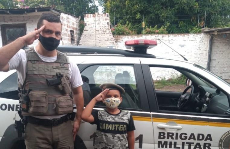 Policial Militar realiza o sonho do pequeno Anthony em Alegrete