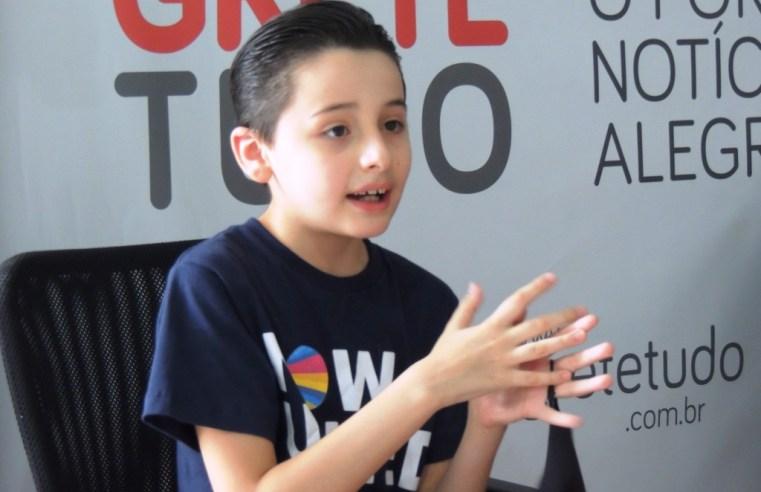 Garoto alegretense de 9 anos é mais um youtuber prodígio